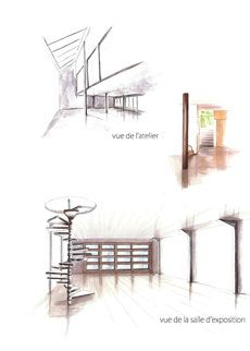 Best Rough Images On Pinterest Croquis Interior Rendering And - Formation decorateur interieur avec fauteuil oeuf design