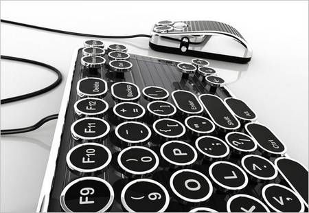 Typewriter style keyboard- I would so get this, but only if it made that delightful clicking noise