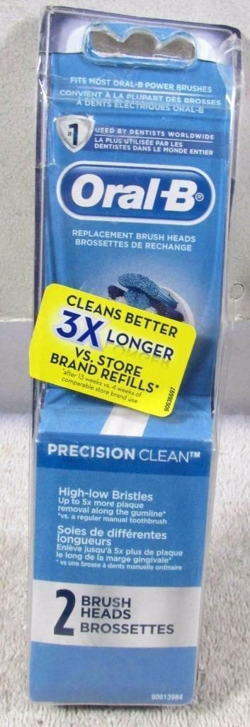 Oral-B Professional Precision Clean Replacement Brush Heads 2-pack crinkled pkg