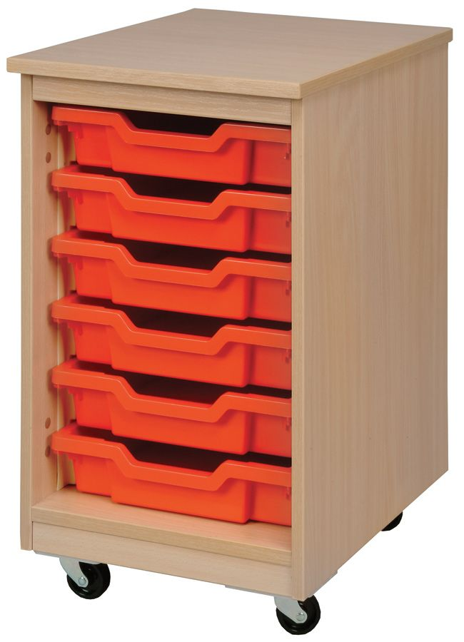 Mobile 6 Tray Storage Unit Ideal For #schools #nurseries And #preschools.