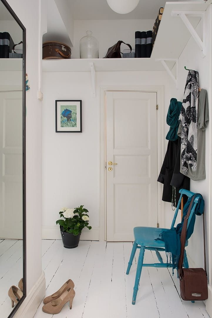 Overlooked No More: 10 Ideas to Add Style & Function to Hallways // high storage shelf