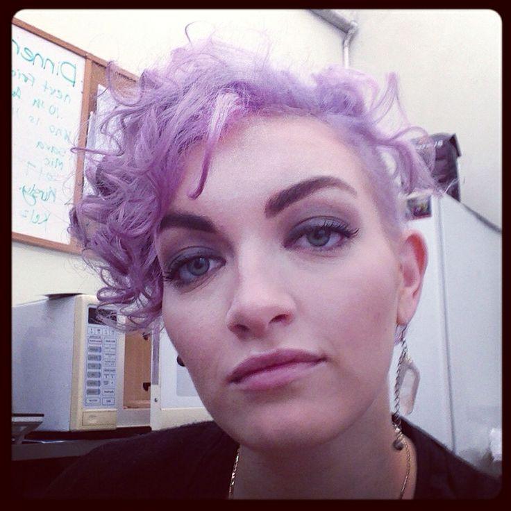 Short curly purple hair