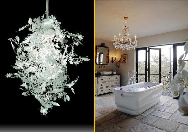 Oltre 25 fantastiche idee su lampadario da bagno su - Lampadari per bagno ...