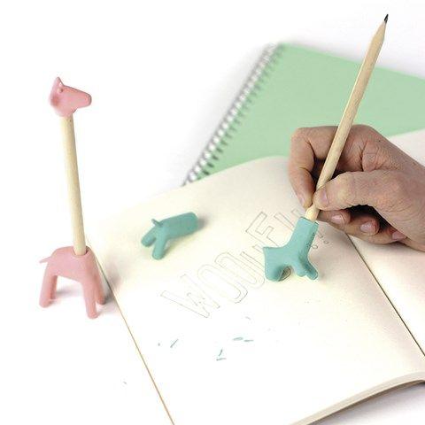 We love these fun Manta Pink Giraffe Erasers   AlexandAlexa