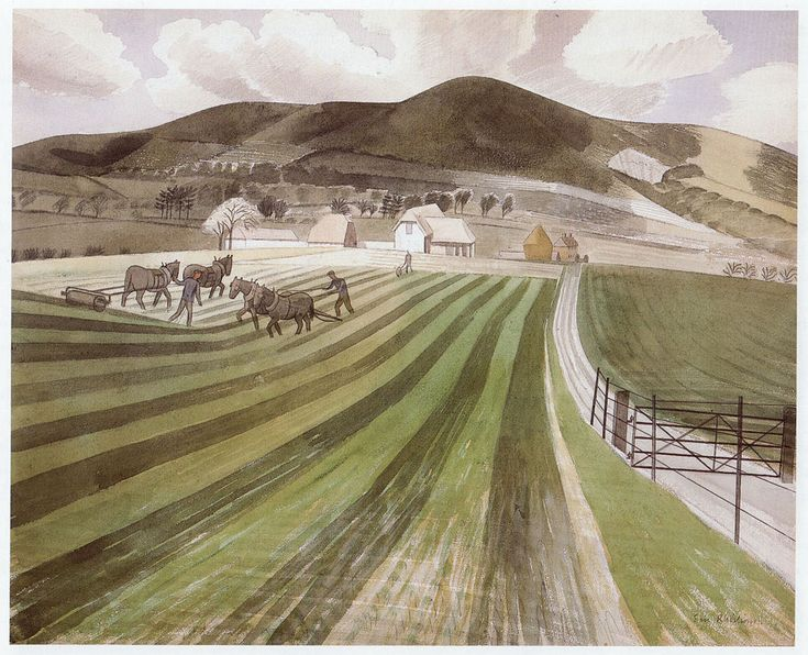 Mount Caburn Sussex Eric Ravilious