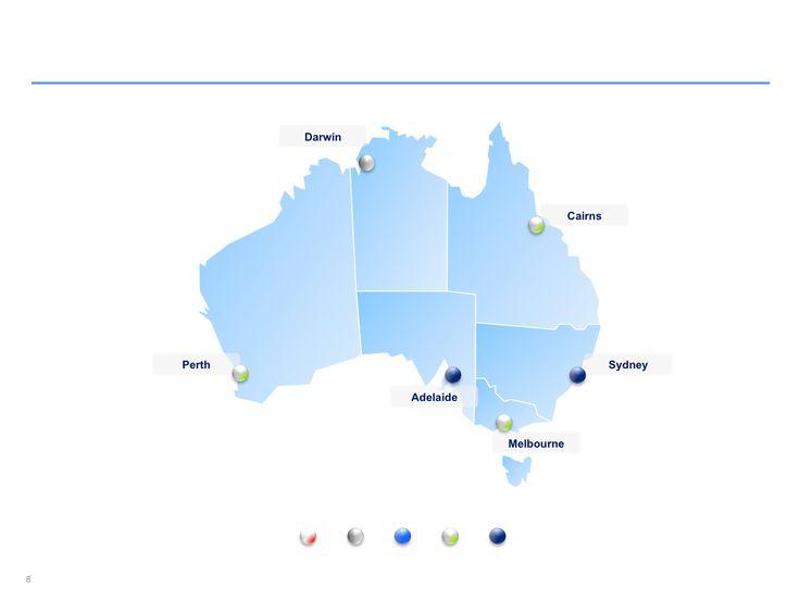 Descarga ahora Mapas de Australia editables en Power Point