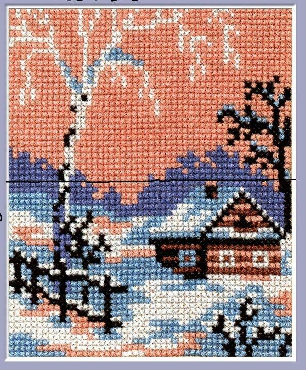 House cross stitch.