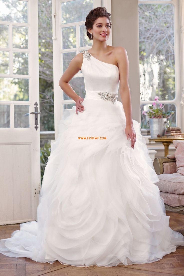 Ball Gown/Askunge Ärmlös Naturlig Lyx Bröllopsklänningar