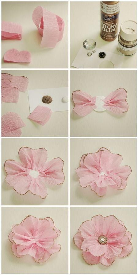 DIY crepe paper flowers diy crafts home made easy crafts craft idea crafts ideas diy ideas diy crafts diy idea do it yourself diy projects diy craft handmade