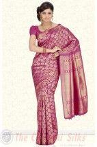 Pure Jari Turning Border Brocade Bridal Silk fancy saree PSS203 http://www.shopcost.in/bridal+silk+saree