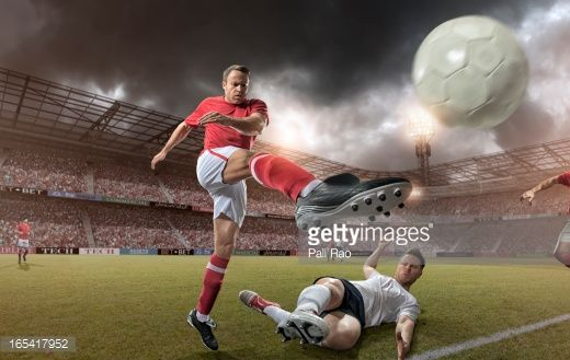 Stock Photo : Football Players