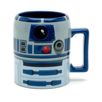 Per servire le bevande calde niente è più indicato del droide R2–D2. In robusto gres, la tazza ha la forma dell'impavido droide con particolari in rilievo.