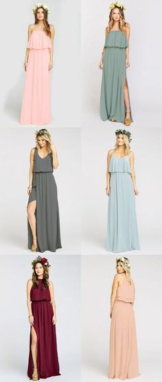 Bohemian Bridesmaid Dresses   Maxi dresses for bridesmaids from Show Me Your Mumu