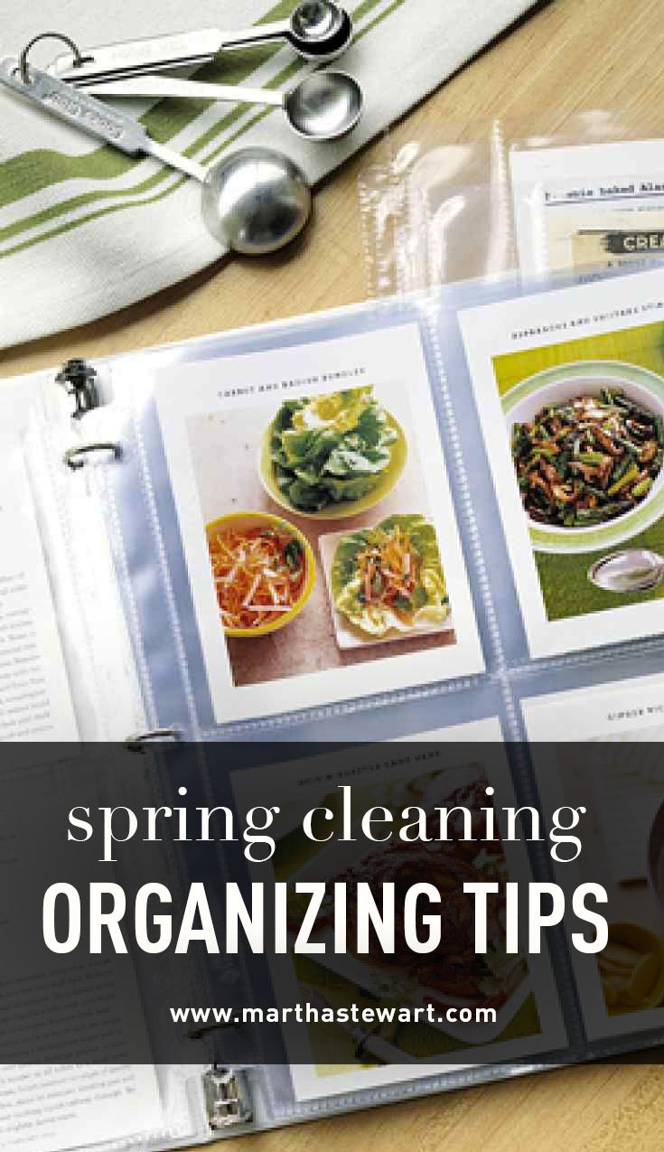 Spring Cleaning Organizing Tips | Martha Stewart Living - For easier spring cleaning, fill a bucket with basics that need to be toted from room to room: all-purpose and glass-cleaning sprays, a sponge, a toothbrush, a squeegee, a scrub brush, hopsacking, and terry-cloth towels in washcloth and hand-towel sizes. Between tasks, hang rubber gloves over the rim to dry.