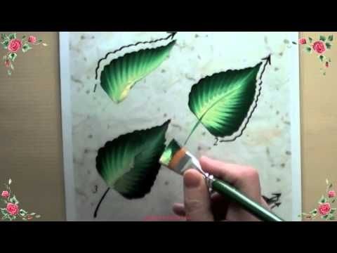 Démonstration de l'usage des fiches d'entrainement à la peinture décorative (technique de Dona Dewberry/Folkart) proposée par Joelle sur peinture-facile.com.  Cette technique permet d'apprendre facilement à peindre sur le verre, la céramique, la porcelaine, le métal ou le bois.  Les peintures sont des peintures acryliques spécialement adaptées (...