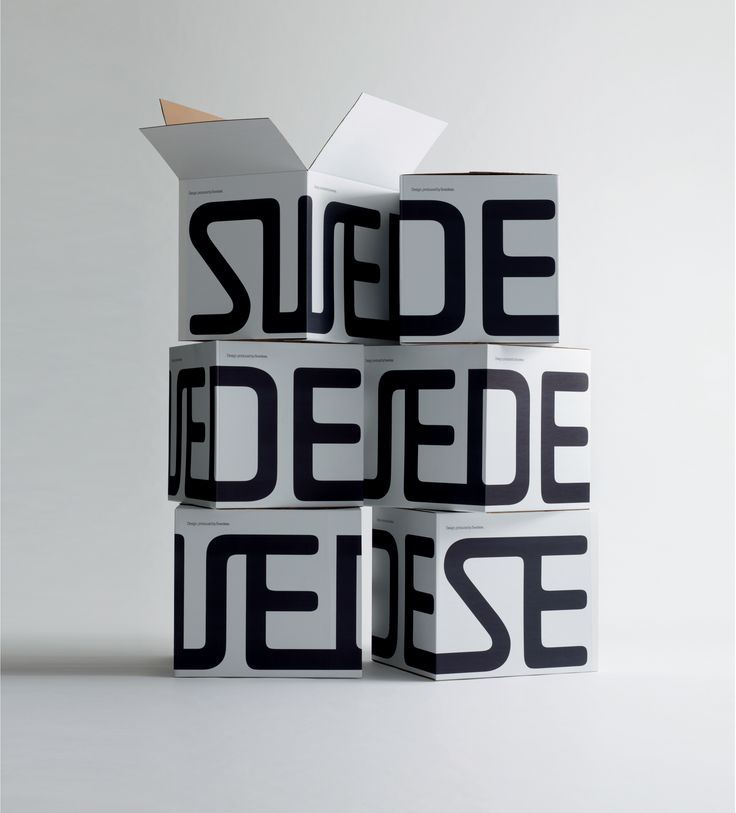 Packaging design, made together with Art director Carl Johan Hane, for furniture and design company Swedese.