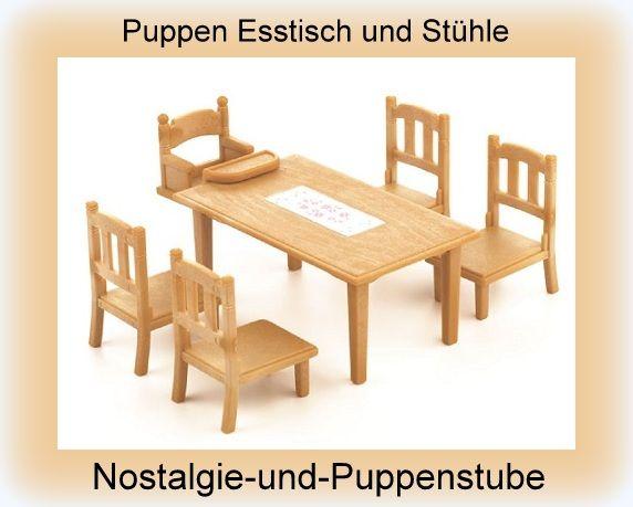 High Quality Puppen Ess Gruppe, Puppen Tisch Und Stühle, Sylvanian... Nur 13.99 EUR