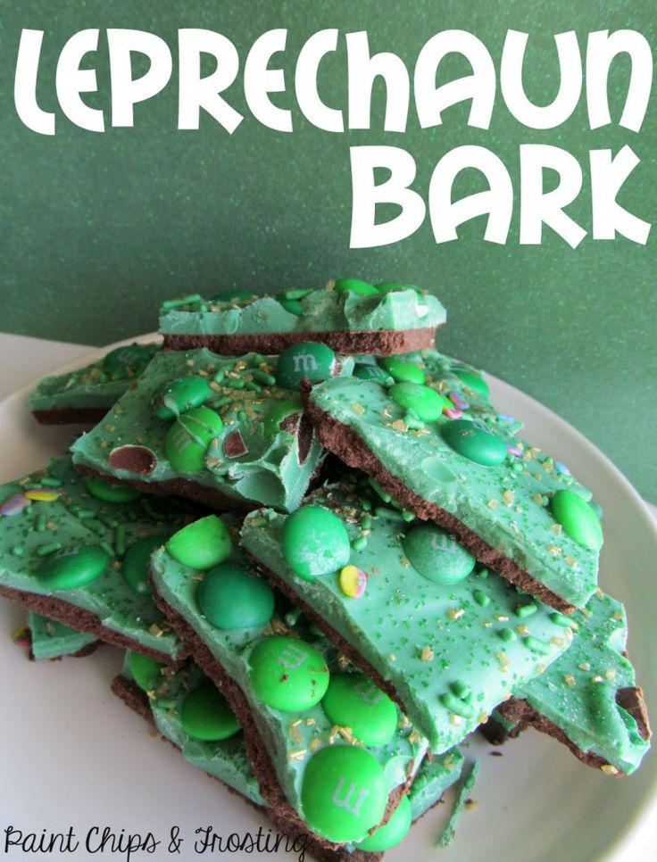 Make yummy Leprechaun Bark for St. Patrick's Day!