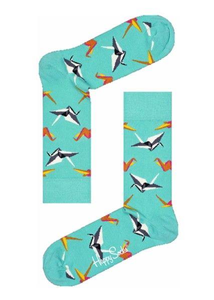Sokken Happy Socks Origami turkoois