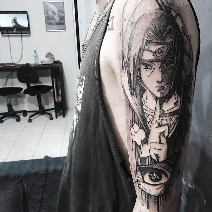 Tattoo Tatuagem Tattoja Tattoos Remotattoo Sasuke Sdv In 2020 Naruto Tattoo Anime Tattoos Itachi Uchiha