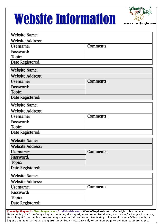 It is an image of Exceptional Password Sheet Printable