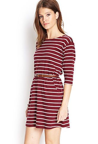 Stripe Print Belted Dress – could never have enough boat dresses! Timeless class…
