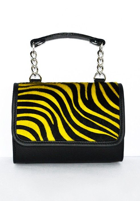 Pochette MiniME Safari black/yellow  MADE IN ITALY  Shop now on www.dezzy.it