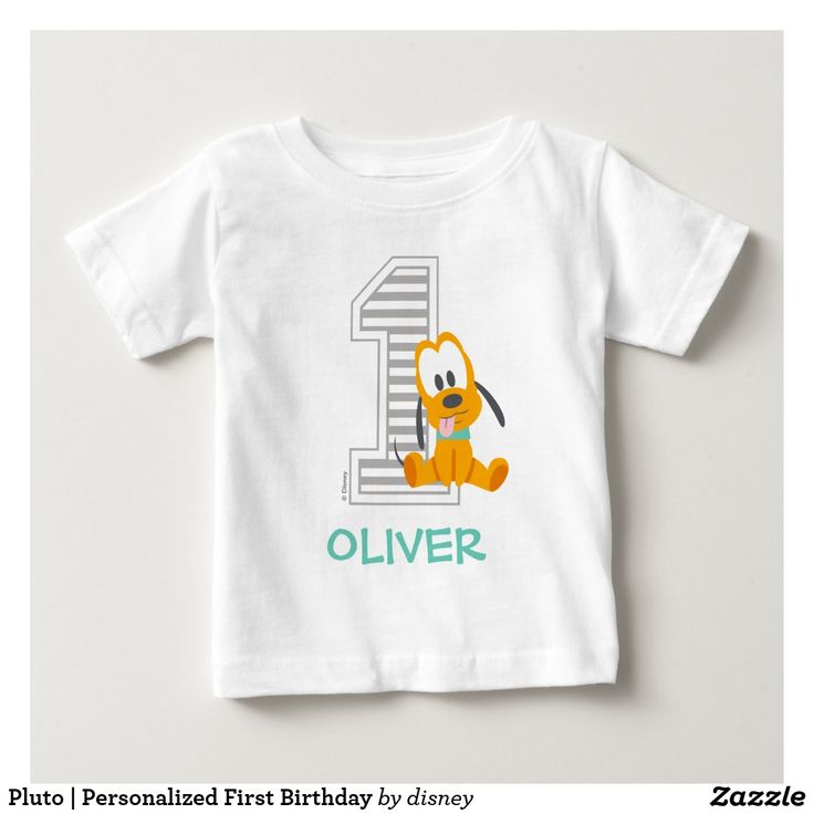 80 best custom disney babys 1st birthday images on pinterest pluto personalized first birthday baby t shirt negle Image collections