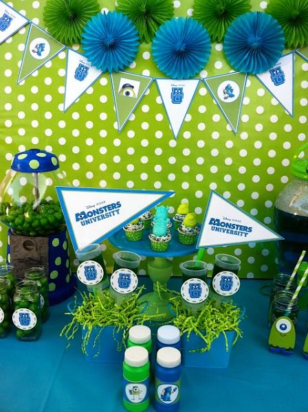 This collection of Monsters University party ideas includes several inspiring posts from party planners along with links to free printables!