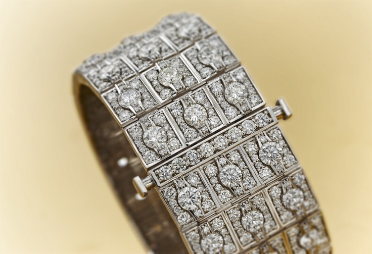 Jacqueline by #Chimento #Couture: white #gold #bracelet with white #diamonds