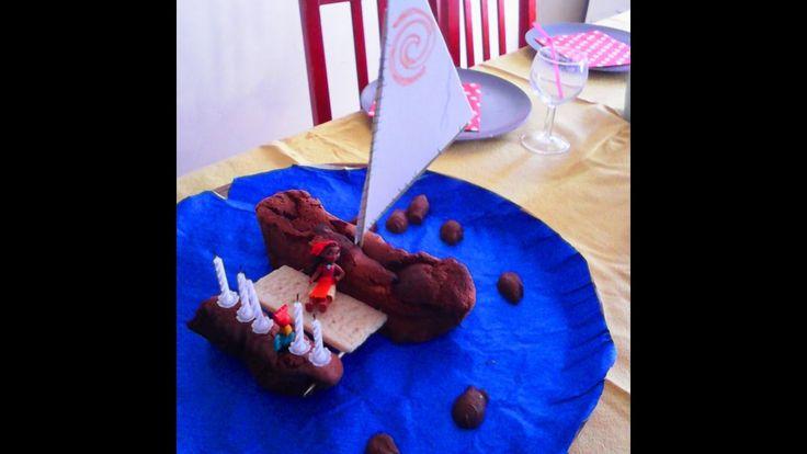 Gâteau d'anniversaire- le bateau de Vaiana