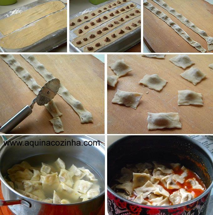 Veja aqui como faço Ravioli usando massa fresca, fiz com recheio de carne, mas dá para fazer com outros recheios.