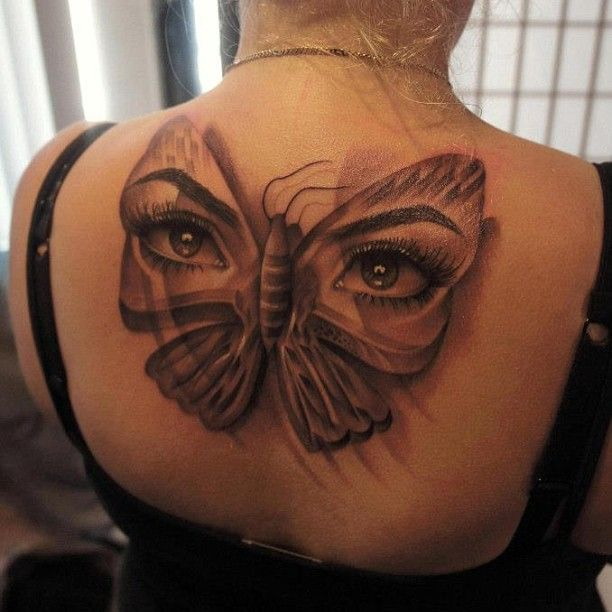 http://tattooideas247.com/eyes-butterfly-tattoo/ Eyes Butterfly Tattoo #BackInk, #Butterfly, #Eyes, #GirlsBackTattoos