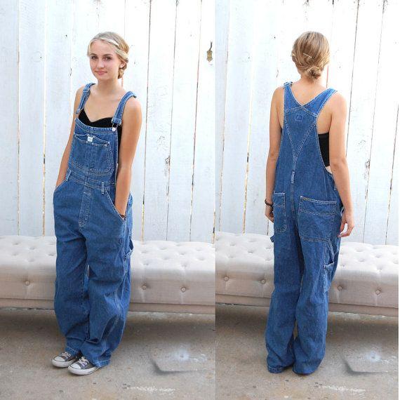 Street Style - Vintage 90's Calvin Klein Jeans Overalls