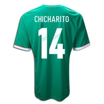 Adidas Javier Hernanadez (Chicharito) #14 Mexico Home Jersey 2011, via https://myamzn.heroku.com/go/B007P5AFBW/Adidas-Javier-Hernanadez-Chicharito-14-Mexico-Home-Jersey-2011