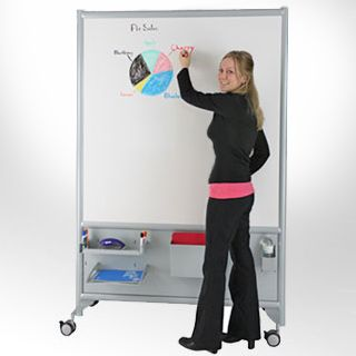 Portapanels Mobile Whiteboards for Schools and Office.  Rolling dry erase board, whiteboard easel of wheels