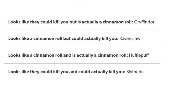 Hogwarts Houses Cinnamon Roll