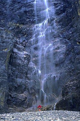 Runoff from Stanley Glacier, Kootenay National Park