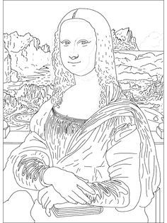 coloring pages. Famous Paintings - 999 Coloring Pages Take the history of the…
