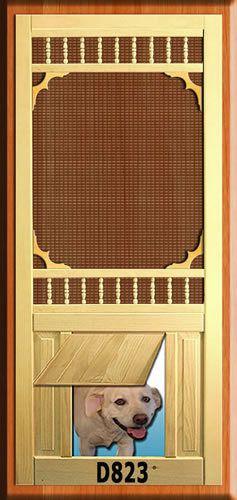 Epic Pet wood screen door d