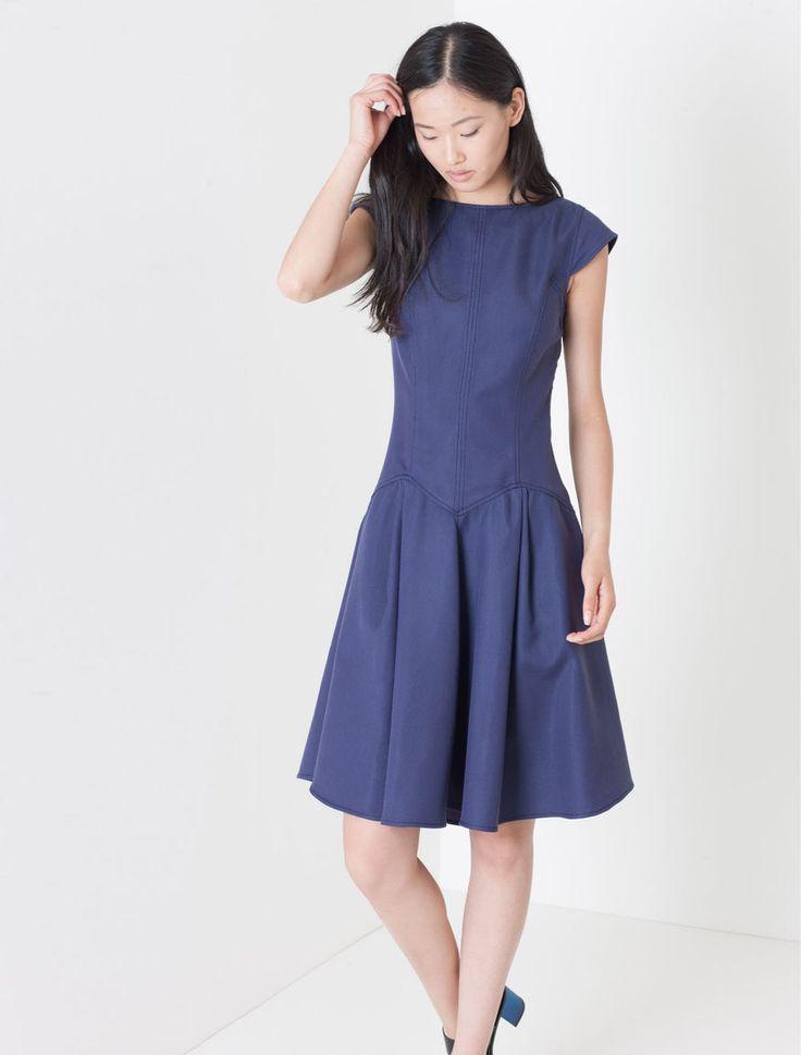 Corolla Dress di tessuto piqué, blu -