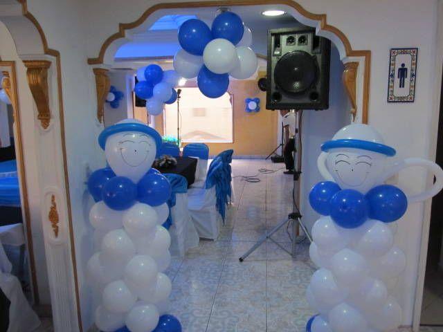 adornos para primera comunion con globos de niño  Los globos son un artículo decorativo que quedan muy bien en cualquier tipo de fiesta, desde las más lujosas pasando por la decoración con globos d...