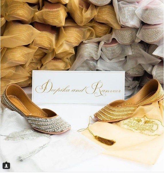 Deepika Padukone Inspired From Sonam Kapoor For Her Wedding Favours At Her Mehendi Ceremony Jutti Wedding Favours Wedding
