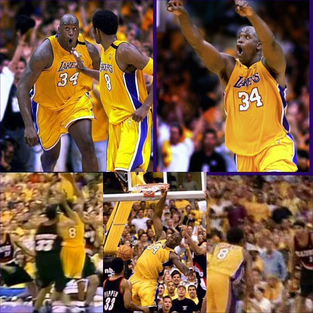 14 Yrs Ago Today......The Los Angeles Lakers overcame a 15 Point Deficit at the start of the 4th Quarter to beat the Portland Trailblazers in Game 7 of the 2000 NBA Western Conference Championship. The play of the game was this lob pass from Kobe Bryant to Shaquille O'Neal which Finished The Game. The Lakers went on to beat the Indiana Pacers in the NBA Finals to win the 1st of the 3PEAT Champiionships