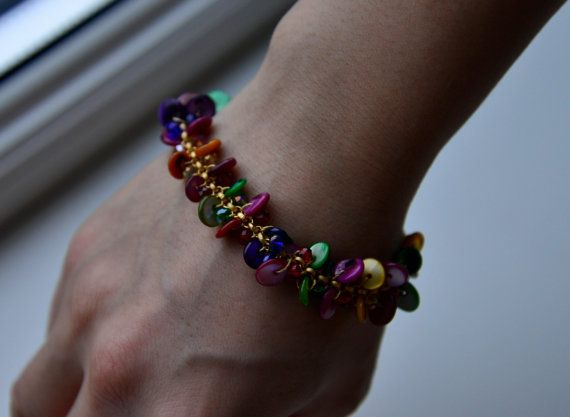 Colorfull boho style bracelet with various beads door NHLdesign