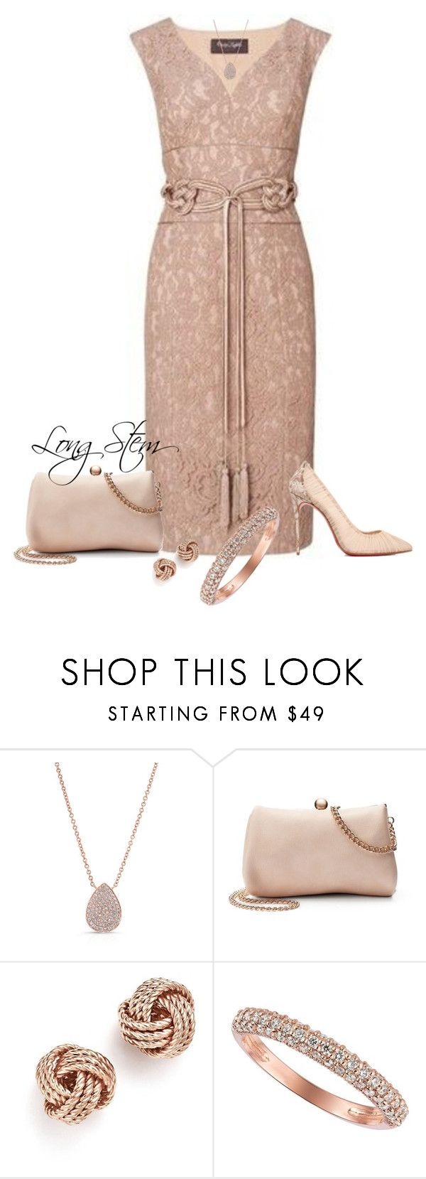 """5/31/17"" by longstem ❤ liked on Polyvore featuring Phase Eight, Christian Louboutin, Anne Sisteron, LC Lauren Conrad, Bloomingdale's and Morris & David"