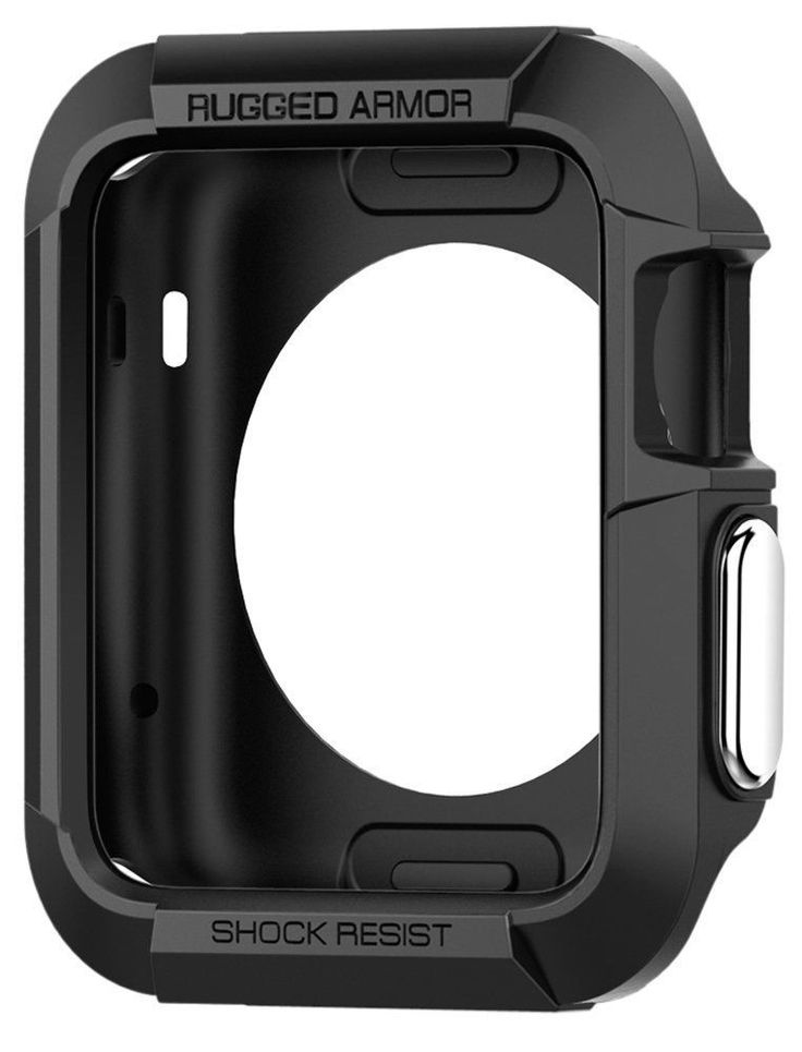 Apple Watch 42mm Case Impact Protection Rugged Armor Black (SGP11496) Series 2/1 #Spigen
