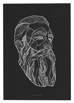 Camilla And Marc Paper Collective 50x70 Cm Bearded Man Print By Daria Zaitseva