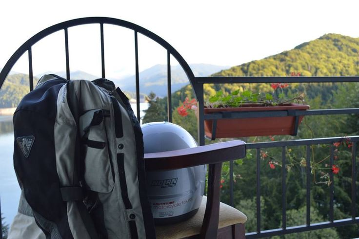 Best of Transylvania guided Motorcycle Tour - view from the hotel room.