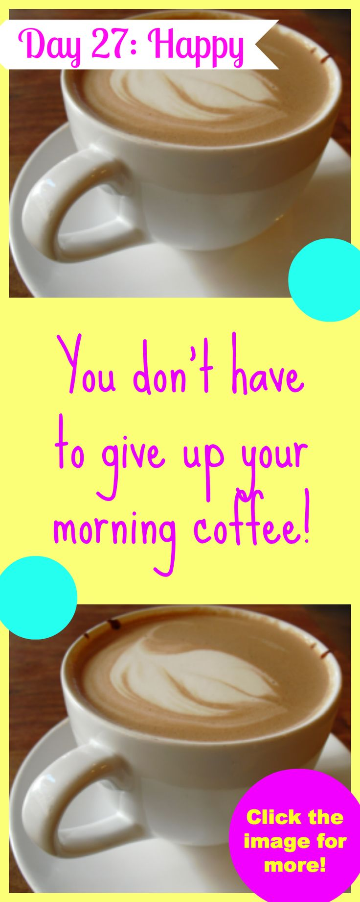GUESS WHAT! Weight loss doesn't mean you have to give up your morning coffee ! Click the image to read more and comment below so I know how you are doing! On the home stretch of this challenge... LET'S GO!